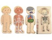 Lagenpuzzle Dein Körper - Mädchen & Junge 2er Set