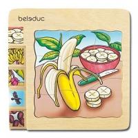 Lagenpuzzle Banane, Erdbeere, Apfel und Karotte - 4er Set