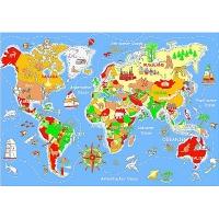 Spielteppich Welt 140 x 200 cm