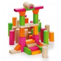 Bausteinwagen Farbklecks mit Rollen