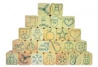 Holz-Stempelset Adventskalender
