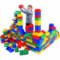 Softblocksteine, Noppensteine, Riesen-Softblock-Steine 100-teilig