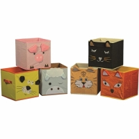 Aufbewahrungskörbe-Set, 6-teilig, Tiermotiv