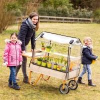 Mobiles Gewächshaus für kleine Gärtner
